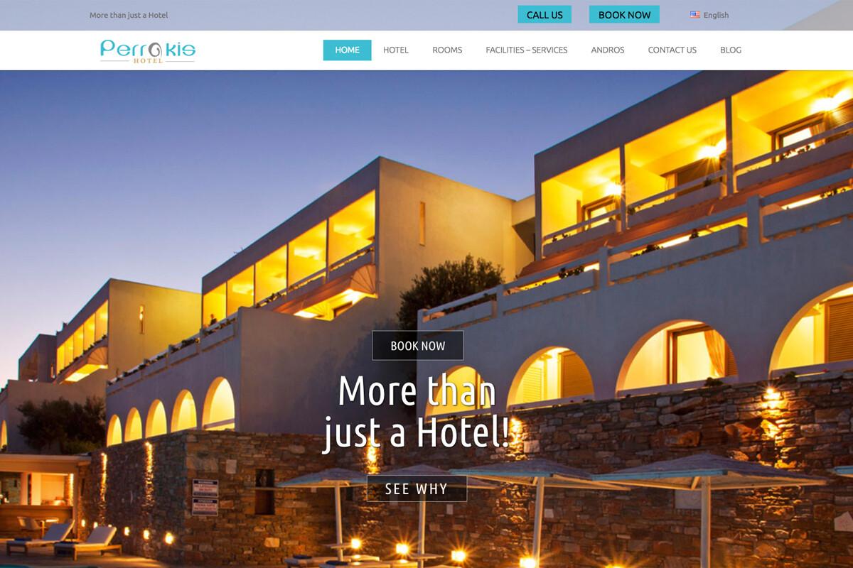 Κατασκευή ιστοσελίδας Ξενοδοχείου Περράκης